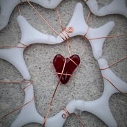 Heart and Wire Sculpture