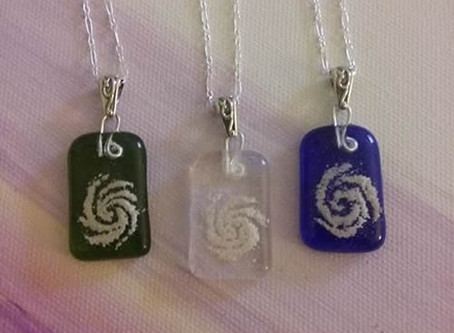 Spiral Pendants - Purple Cloud Studio