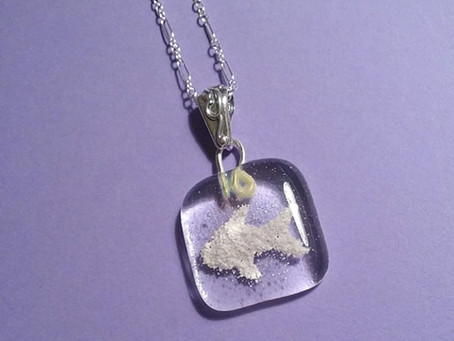 Fish Cremation Pendant - Purple Cloud Studio