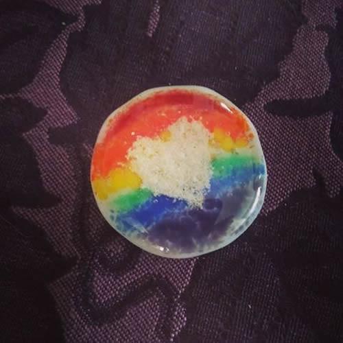 Rainbow Cremation Touchstone