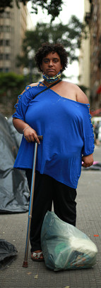 Paloma Leoncio da Silva. Portadora de Transtorno de Personalidade Esquizotípica e está na rua há 11 anos