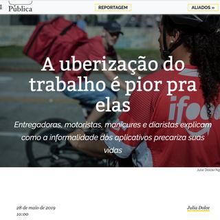 Agência Pública - maio de 2019