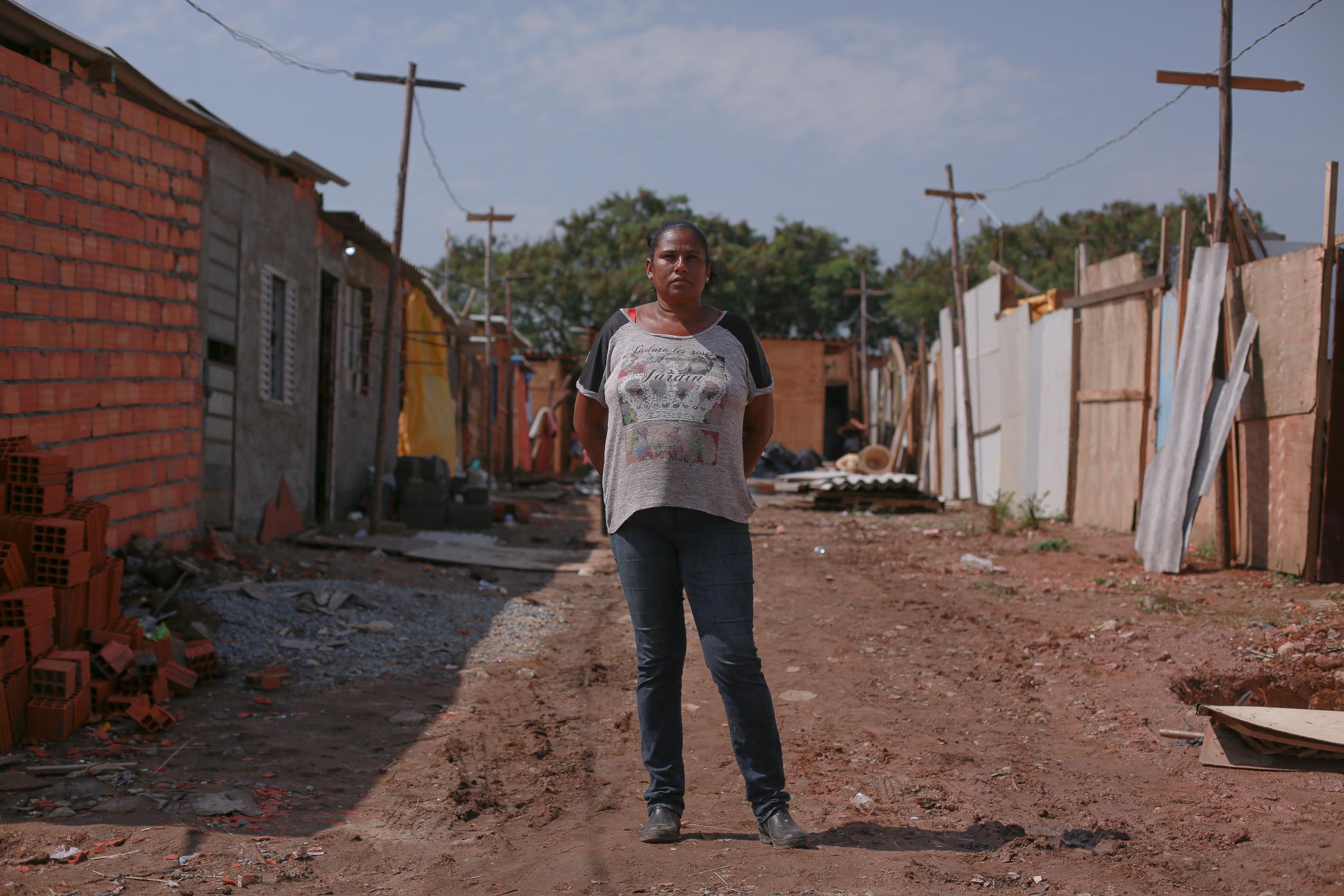 Coordenadora da ocupação Viva Jardim Julieta, Valdirene Frazão, já aguarda habitação na fila da Coha