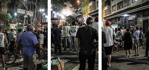 Ocupação pega fogo e desaba no Largo do Paissandú, no centro de São Paulo - 01-05-18