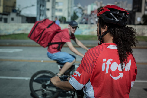 Entregadora de Ifood - São Paulo, abril de 2019