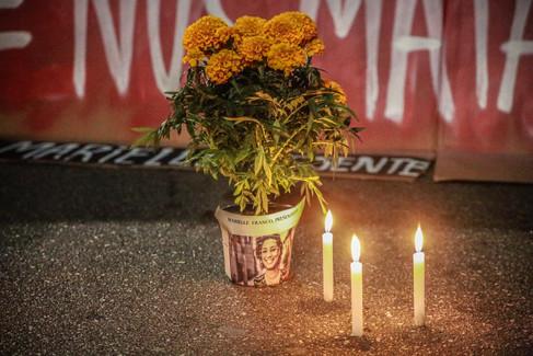 Manifestação em memória da vereadora assassinada Marielle Franco   São Paulo - 15 de março de 2018