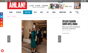 SPOTTED IN AHLAN MAGAZINE AT SPLASH FASHION SHOW OCT/2015