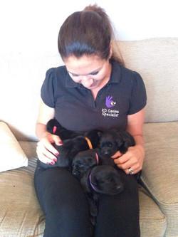 Kirsten training puppies