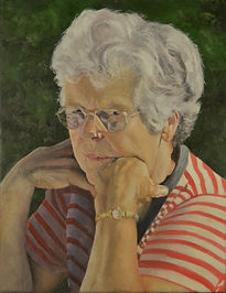 Portrait of Sue the mother of Debbie Weaver by Clive Hale