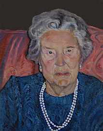 Portrait in Oils of Patricia Crates' mother by Clive Hale
