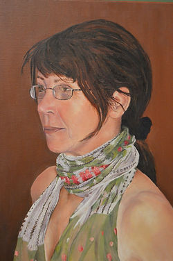 Portrait in Oils of Debbie Weaver by Clive Hale