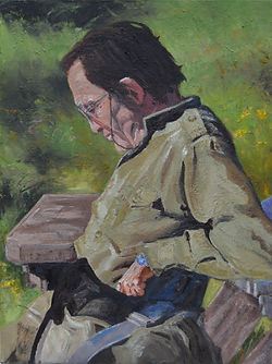 Portaint in Oils of David Fawcett (Moff) by Clive HaleDSC_0132_xx.jp