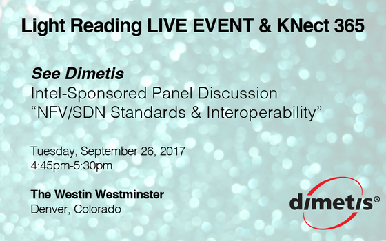 Dimetis presents at Intel-sponsored panel discussion @ Light Reading NFV conference