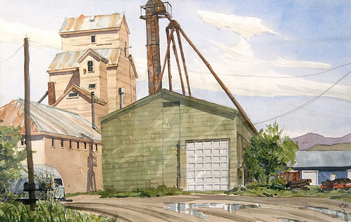 Wallace St Elevator II (Watercolor)