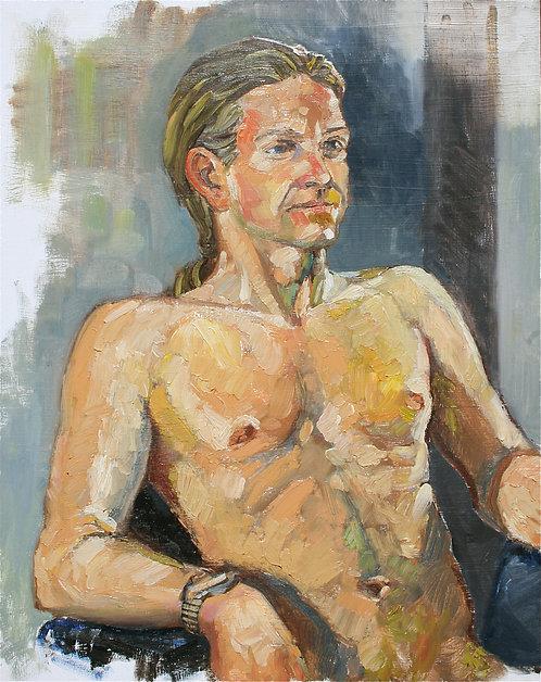 Seated Male Nude 2