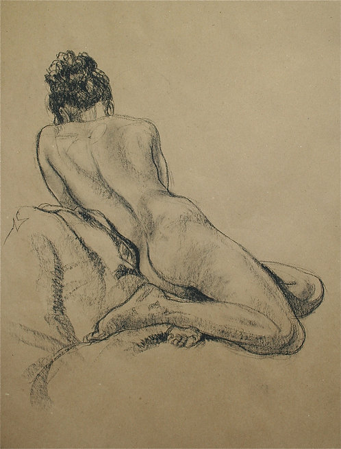 Recumbant Seated Nude (back view)