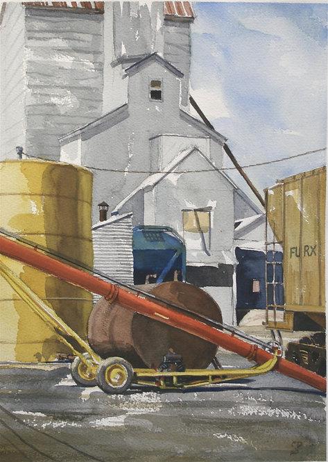 Mendenhall Yard Equipment (Watercolor)