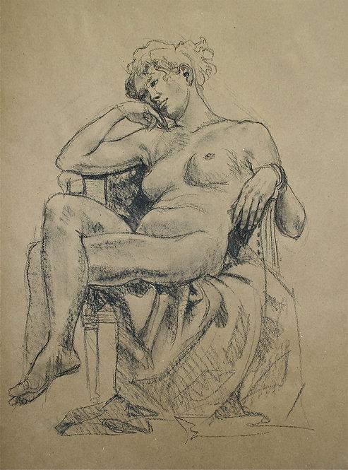 Recumbant Seated Nude I