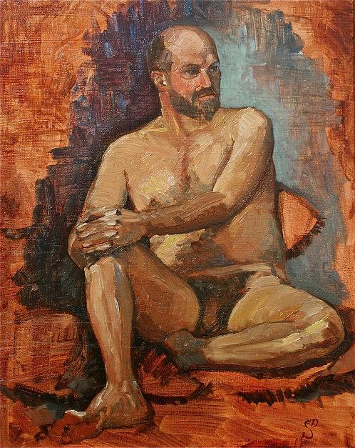 Seated Male Nude I