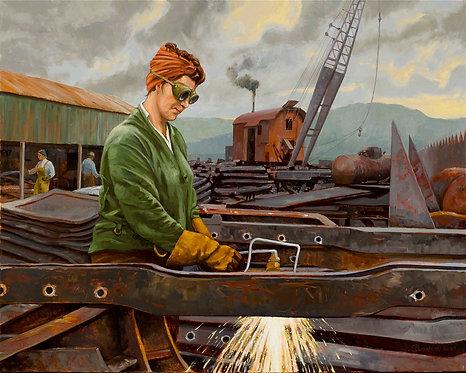 Cutting Steel in the Yard