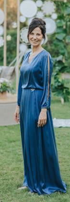 Einat - Silk blue dress