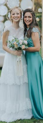 Atra - Green dress &  Yuval Boho wedding dress