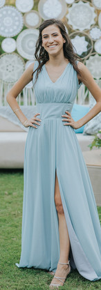 Zohar - light blue chiffon dress