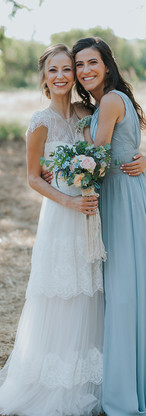 Zohar - light blue chiffon dress Yuval - Boho wedding dress