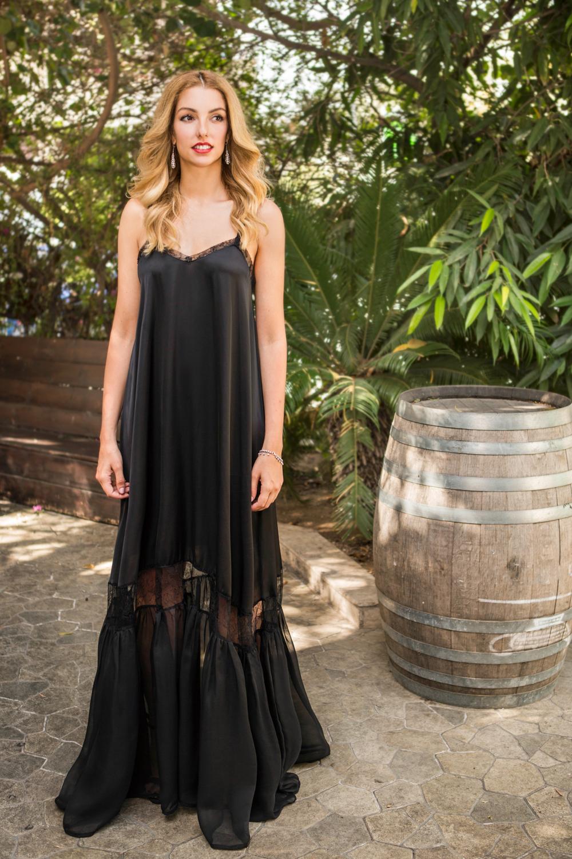 Transparent legs dress – lace & chif