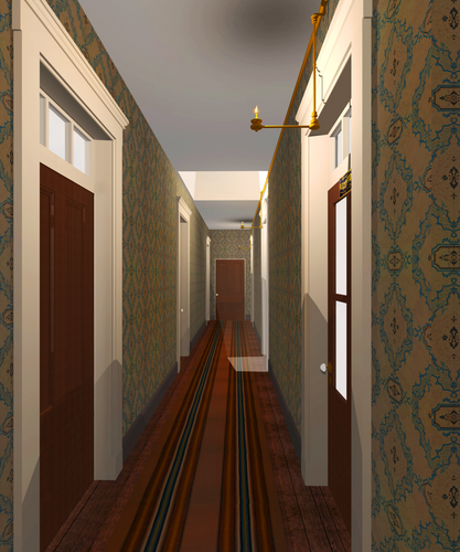 Recreated Hallway in Missing Soliders Office