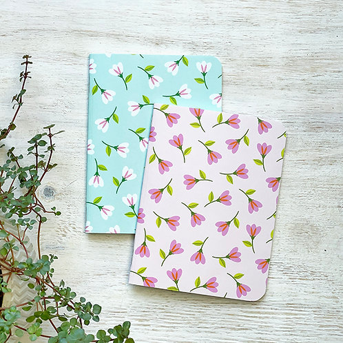 Small Notebook - Breezy Blossoms