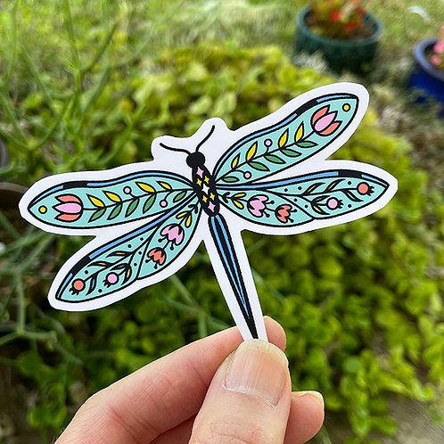 Vinyl Sticker - Folk Dragonfly