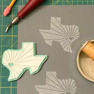Texas stamp carving