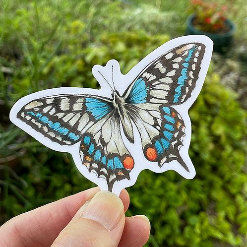 Vinyl Sticker - Watercolor Swallowtail