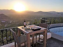 Terrace table and sun set.jpg