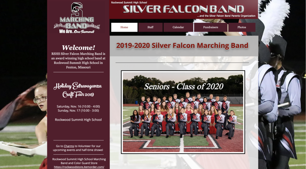 Silver Falcons Marching Band Home Page