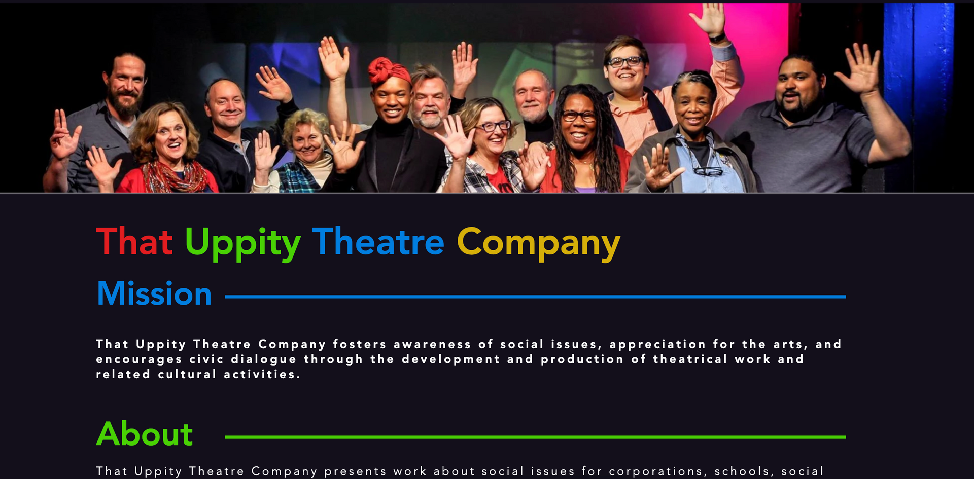 That Uppity Theatre Company About Page
