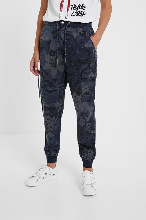 Pantalon cargo à fleurs  Desigual