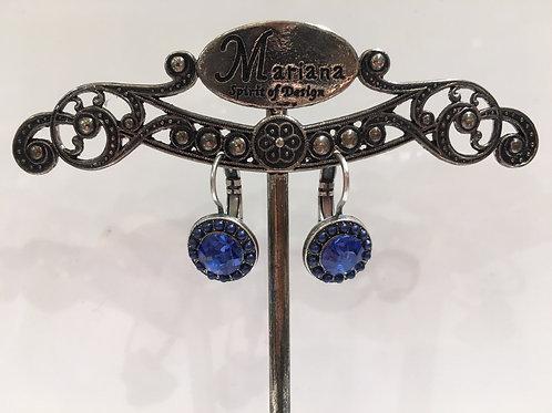 Boucles d'oreilles multi cristaux bleus Mariana