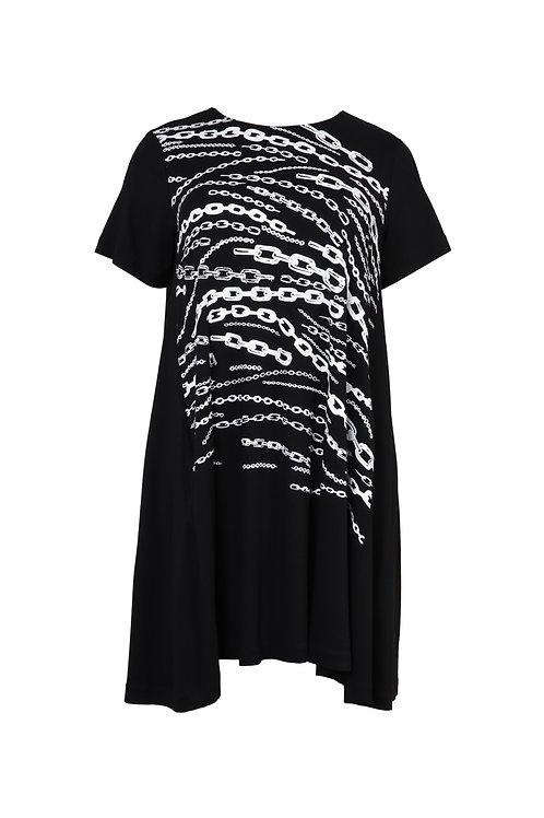 Robe chaînes noires Mat. Fashion