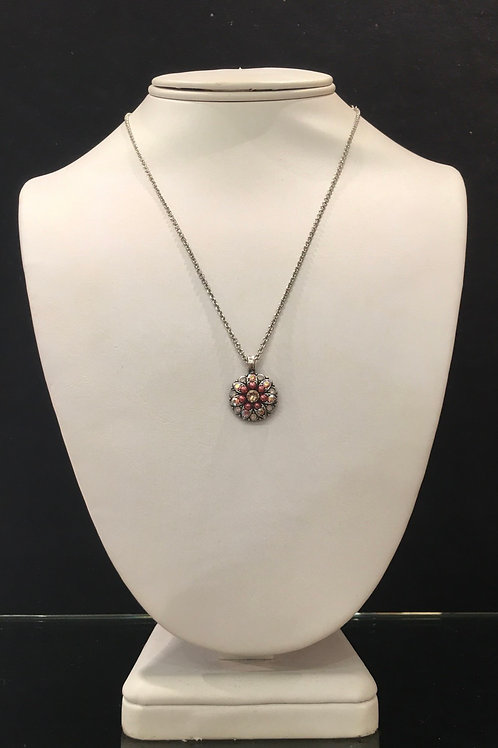 10-Collier Ange protecteur cristaux et perles rose Mariana
