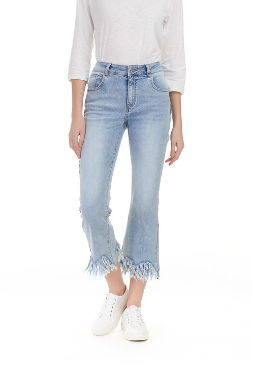 Jeans 3/4 effiloché Charlie B