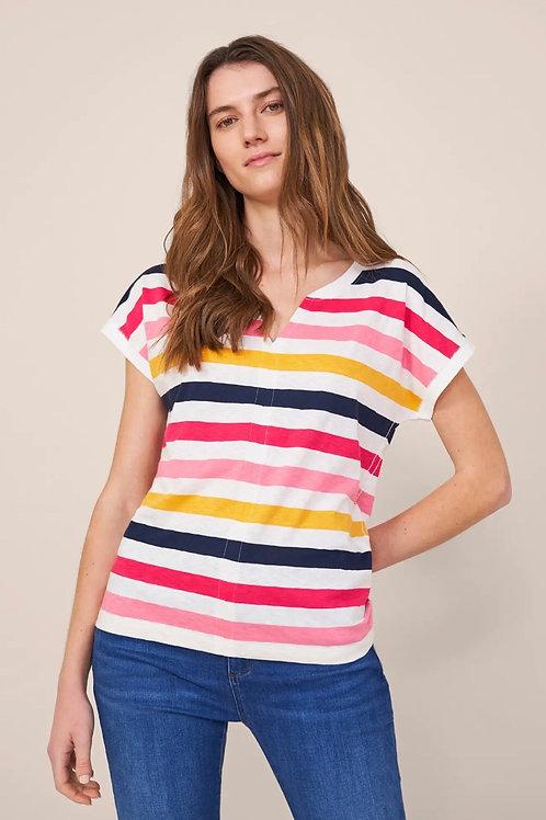 T-Shirt Nelly Notch White Stuff