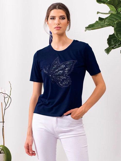 T-Shirt papillon marine Alison Sheri
