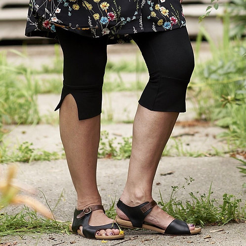 Legging Promenade 3/4 noir Rien ne se perd