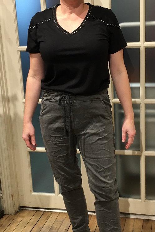 Pantalon magique italien gris  Élissia