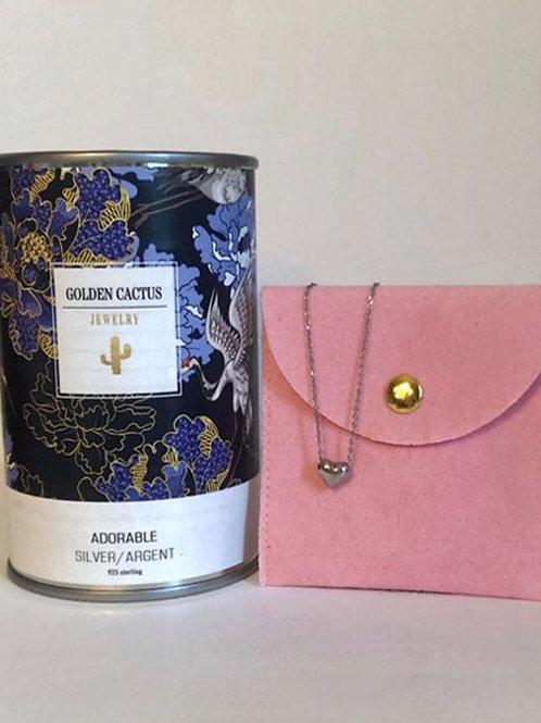Boîte cadeau collier Adorable argent Golden Cactus