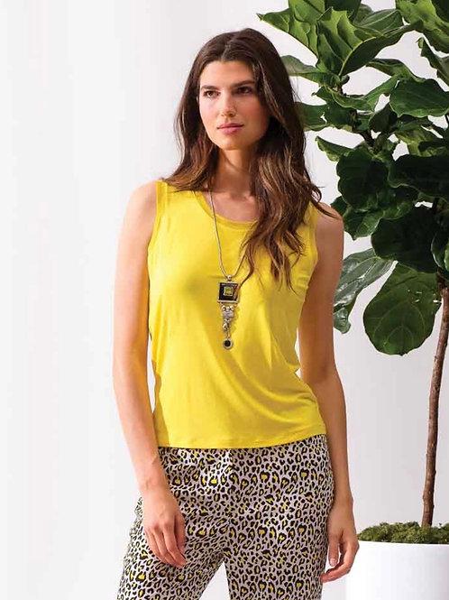 Camisole bi-matières jaune Alison Sheri