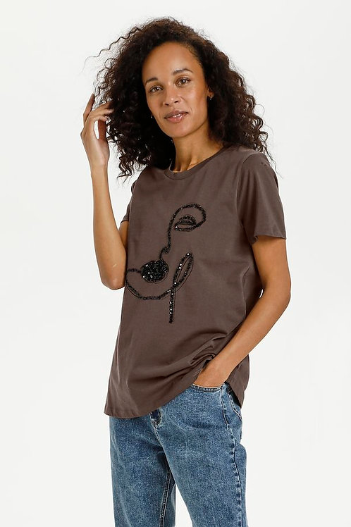 T-Shirt KAveraja Face  KAFFE