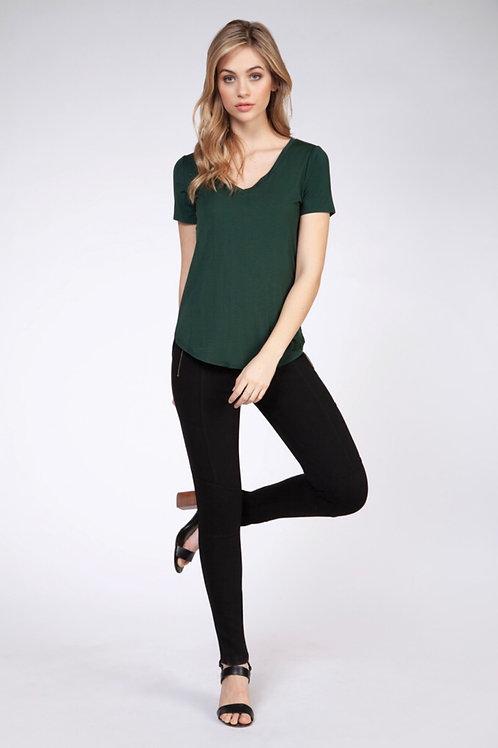 T-Shirt  vert émeraude Dex